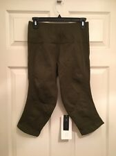 Lululemon Size 10 Flow & Go Crop NWT Military Green MILT Seamless