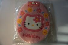 NIB NEW Authentic License Japan Pink Hello Kitty Toilet Seat Cover Lid + U shape