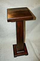 """Antique Mission Style Quarter Sawn Oak 35"""" Plant Stand Hall Table c. 1920"""