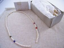 """(24) New Vintage Partial Faux Pearl 27"""" Kyska Necklaces ~ Japan ~ Jewelry Making"""
