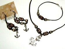 Vintage Fashion Jewelry Set Necklace Bracelet & Earrings