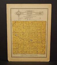 Wisconsin Waushara County Map Oasis  Township 1914 W10#28