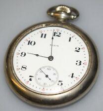 7j Pocket Watch Running 1918 Elgin 291 7 16s