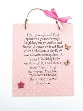 Mother and Daughter Plaque - Personalised Plaque - Handmade - Birthday Gift