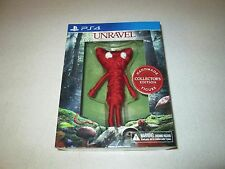 Unravel Collector's Edition Sony PlayStation 4 Yarn Figure Unravel DLC Unopened