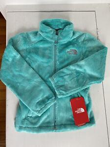the north face girls mint blue osolita fleece jacket size 5 xxs nwt $90