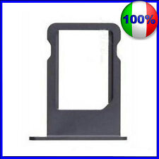 CARRELLO SLOT PORTA MICRO SIM TRAY BLACK SILVER PER IPHONE 5 NERO