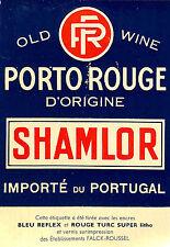 ENCRES FALCK-ROUSSEL ETIQUETTE PORTO SHAMLOR OLD WINE PUBLICITE