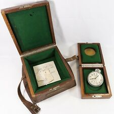 Hamilton Watch Co. Chronometer Watch Model 22 w/ Inner & Outer Wwii Era