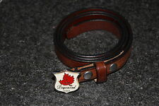 DSQUARED2 F/W 2006 CANADIAN MAPLE leather BELT M LEDER GÜRTEL with mini buckle