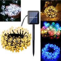 30 LED Blossom Flower Solar Powered Garden Fairy String Lights Outdoor Lamp