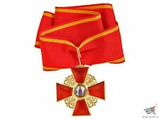 CROSS / ORDER OF SAINT ANNA BADGE 3 CLASS CROSS WITHOUT SWORDS, RUSSIA, REPLICA