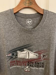 47 Brand Patriots  And Falcons Super Bowl 51 T-Shirt Size Men's Size XL