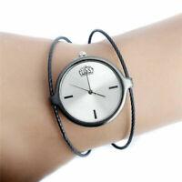 Women's Fashion Casual Alloy Wire Quartz Analog Bracelet Bangle Wrist Watch