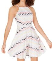 City Studio White Ivory Size 1 Junior A-Line Dress Eyelet Fit & Flare $69 159