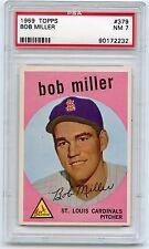 1959 TOPPS BASEBALL #379 BOB MILLER, ST. LOUIS CARDINALS - PSA 7 NM (72232)