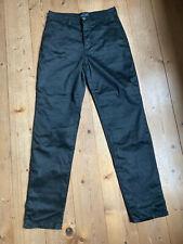 Stretch jeans de trussardi negro logotipo presión viscosa poliamida elastán W 27