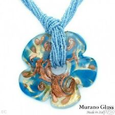 New MURANO GLASS Necklace with Glass Beads in 24K