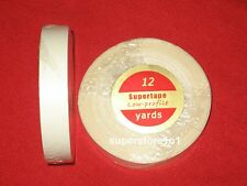 "SuperTape Low Profile 1/2""x 12YDS Roll Tape Non Glare~Lace Wigs Hair Extensions."