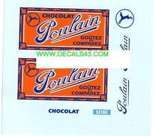 decals decalcomanie plaque chocolat poulain 1/43