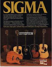 1982 SIGMA Acoustic Guitars Martin Vtg Print Ad