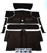 Classic Mini Black Deluxe Moulded Carpet Set - Saloon (1973-2000) LHD/RHD CK962
