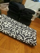 New Shower Curtain And Hand Towels (7) Set Navy Blue Scott Living Brand