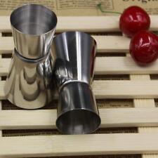 Stainless Steel Double-sided Measuring Cup Jigger Measurer Cocktail Bartender uk