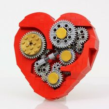 Lego Custom Valentines Day Heart Clock Gears Mechanical Unique Love Beating