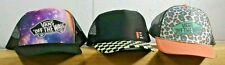 VANS Lot 3 Trucker Baseball Hats Skate Caps Checkered, Space, Cheetah Mint C5