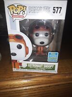 Funko Astronaut Snoopy 577 Peanuts POP 2019 SDCC Exclusive Vinyl Figure box wear