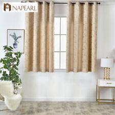 NAPEARL 1 Panel Modern Simple Pastoral Short Curtains Grommet Top Window Drapes