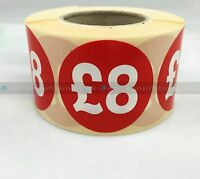 500x RED £4 PRICE SELF ADHESIVE STICKERS STICKY LABELS SWING LABELS FOR RETAIL