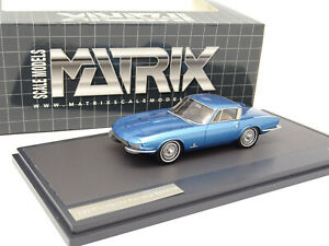 Matrix 1/43 - Chevrolet CORVETTE RONDINE I Pininfarina Bleue 1963