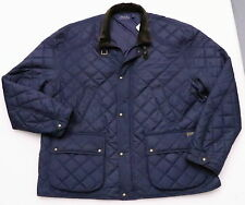 POLO RALPH LAUREN CADWELL MEN'S NAVY BLUE QUILTED JACKET BOMBER BARN SIZE 4XLT