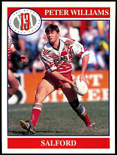 Peter Williams #82 Merlin Rugby Football League 1991 Trade Card (C247)