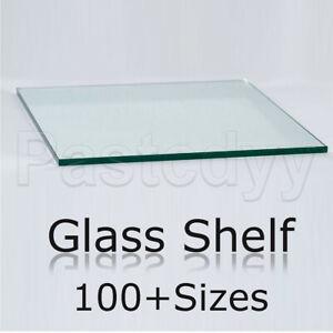 Shelf Panel Glass Storage Sheet Shelving Display Bracket Shelves Transparent