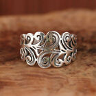 Fashion 925 Silver Hollow Wedding Ring Women Party Band Jewelry Rings Size 6-10