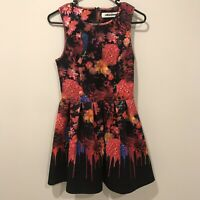 Milk And Honey Red Floral Dress Size 8