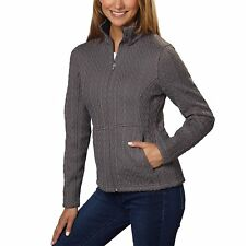 NEW Spyder Women's Major Cable Stryke Full Zip Sweater Jacket Gray Size Large