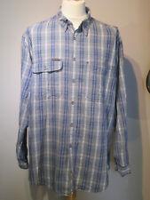 Calvin Klein Blu & Grigio Check Camicia-Taglia XL