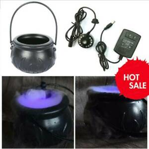 Cauldron Halloween Mister Mist Smoke Fog Machine Color Changing Party Prop New