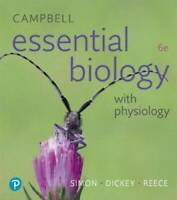 Campbell Essential Biology with Physiology (6th Edition) - Paperback - VERY GOOD