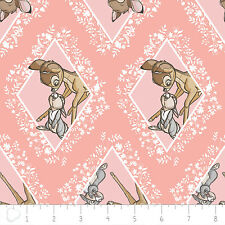 Camelot Disney Bambi Diamonds in Pink Chai 100% cotton fabric by the yard