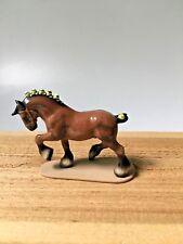 Retired Hagen Renaker 3127 Draft Horse on Base Bobs Mini Porcelain Figurine