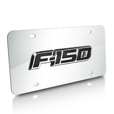 Ford F-150 3D Logo Chrome Stainless Steel License Plate, Made in USA, Warranty
