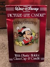 Walt Disney Character Picture-Lite Candle With Plastic Holder