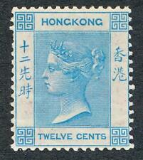 HONG KONG 15, MINT LH, 12c VICTORIA , WMK CC