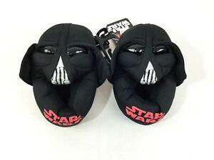 Star Wars Darth Vader Slippers 7/8 Medium Toddler Shoes Black Big Kids NWT 1175