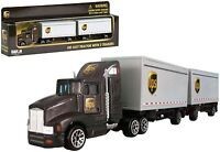 Daron 1/87 HO scale diecast UPS freight 12 wheels truck tractor with 2 trailers